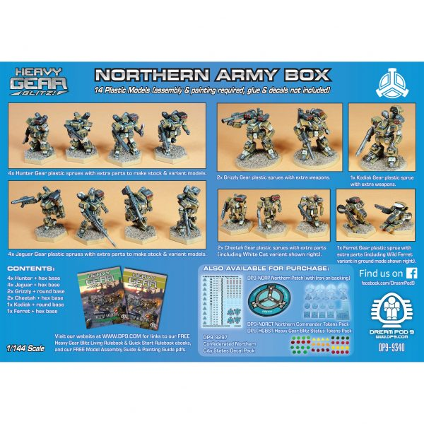 DP9-9340 Northern Army Box back
