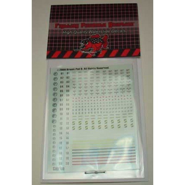 Caprice Decals Sheet in packaging