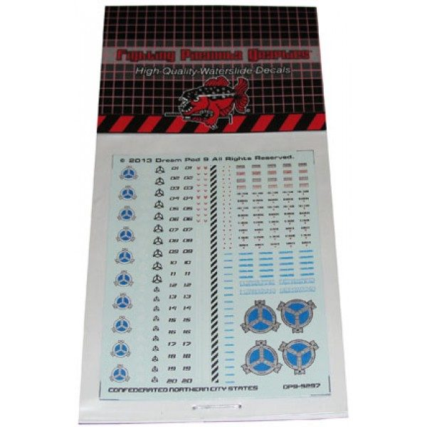 Northern Decals sheet (CNCS) in packaging