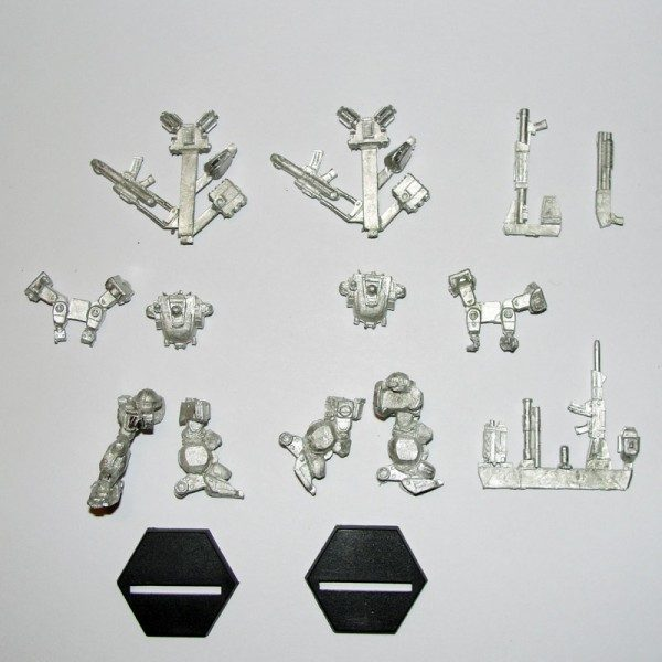 Sidewinder Heavy Gear Two Pack contents