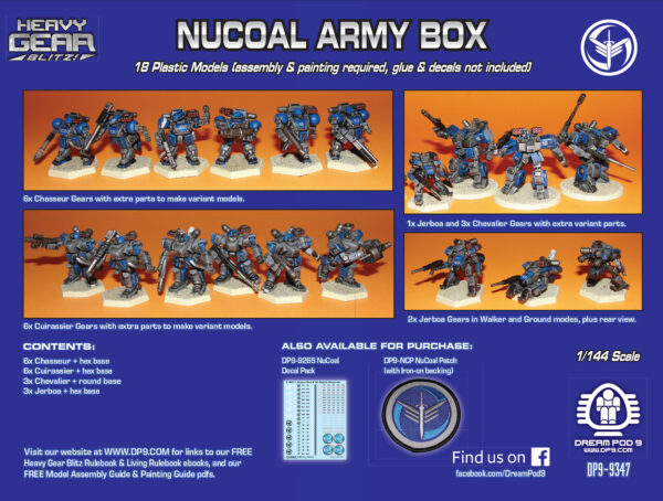 NuCoal Army Box back | Heavy Gear Blitz