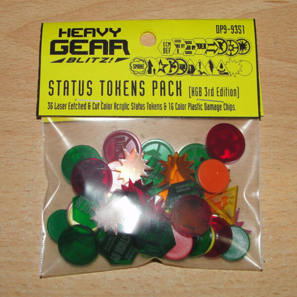 Heavy Gear Blitz Status Tokens Pack 3rd Edition (DP9-9351)
