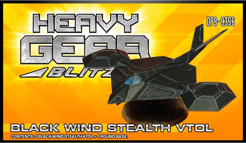 Black Wind Stealth VTOL Packaging | Heavy Gear Blitz!