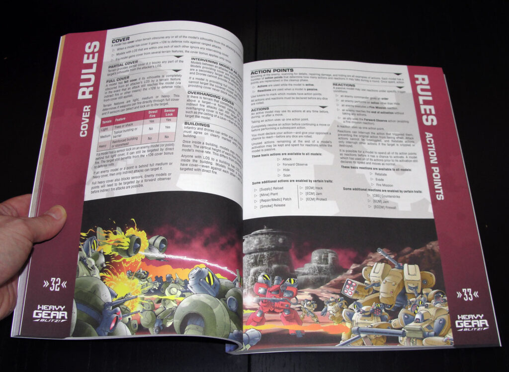 Heavy Gear Blitz 3rd Edition Rulebook Rules page spread